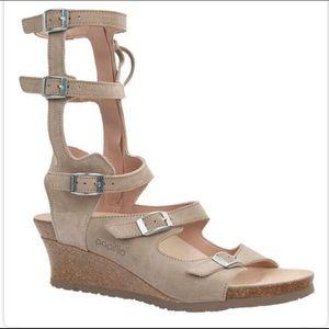 Birkenstock Papillio Taupe Suede Gladiator Sandals